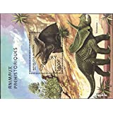 Guinea block517 (Complete.Issue.) 1997 Prehistoric Animals (Stamps for Collectors) Amphibians / Reptiles / Dinosaurs
