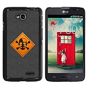 LECELL -- Funda protectora / Cubierta / Piel For LG Optimus L70 / LS620 / D325 / MS323 -- Warning Meth Cook --