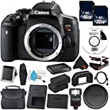 6Ave Canon EOS Rebel T6i DSLR Camera (Body Only) 0591C001 Deluxe Bundle - International Version (No Warranty)