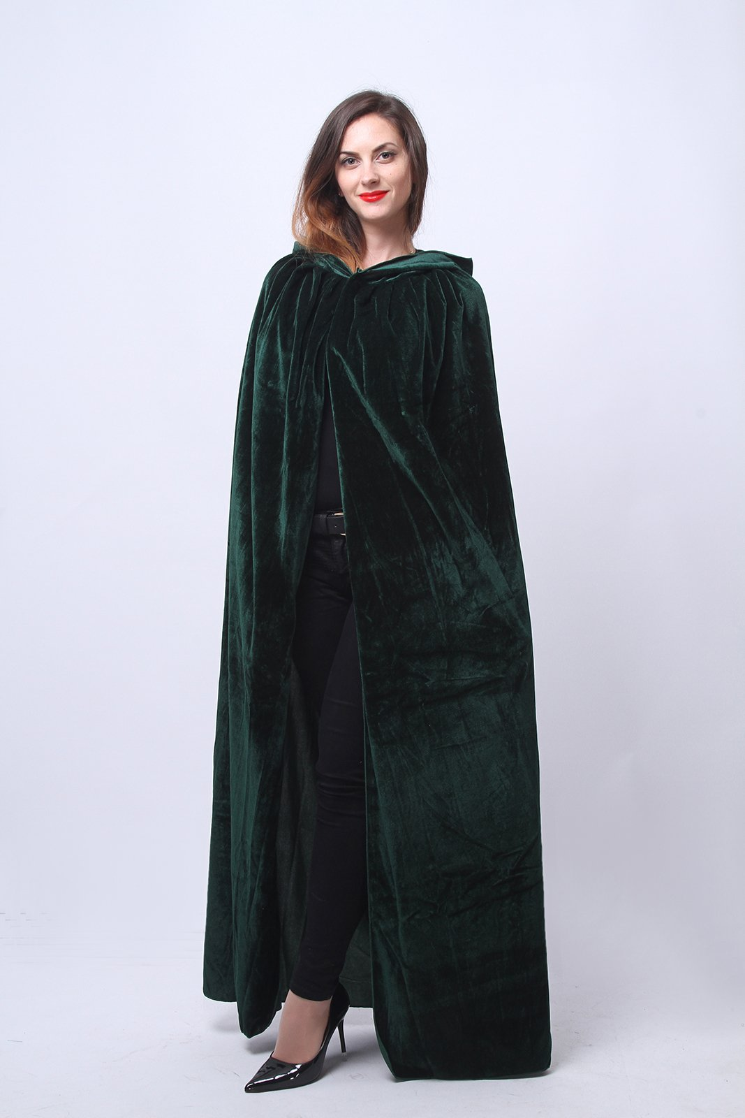 Nuoqi Mens Halloween Costumes Unisex Adults Cosplay Green Cape Cosplay Costumes by Nuoqi (Image #3)
