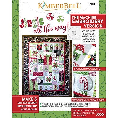 KIMBERBELL Jingle All The Way! Machine Embroidery CD & Sewing Book KD801