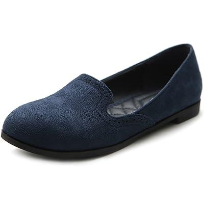 Ollio Women's Shoe Ballet Faux-Suede Cute Comfort Multi Color Flat | Flats