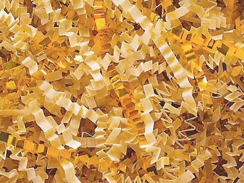 Pack of 1, French Vanilla & Gold Crinkle Cut 40 Lb Spring-Fill Shred for Baskets, Basket Boxes, Bags, Containers & Nested Boxes by Generic