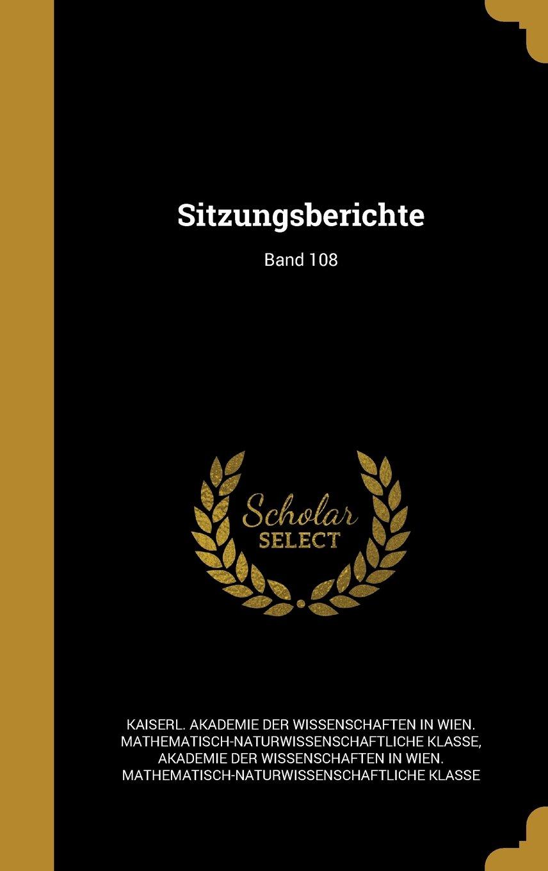 Read Online Sitzungsberichte; Band 108 (German Edition) pdf epub