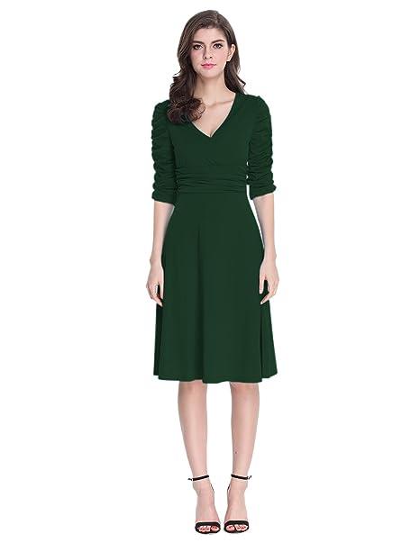 Sue&Joe Damen Wickel Kleid, Einfarbig Grau grau: