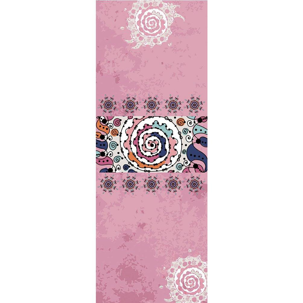 Cayuan Yoga Exercise Mat Towel Printed Non Slip Microfiber Lightweight Antibacterial Hot Yoga Towel