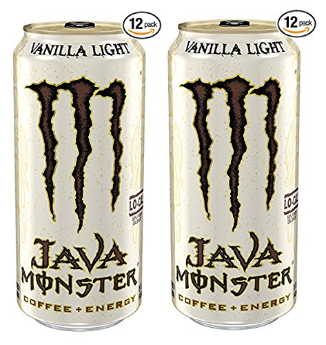 (Monster Energy IUYEHDUH Java, Vanilla Light, 15 Ounce (Pack of 12), 2 Cases)