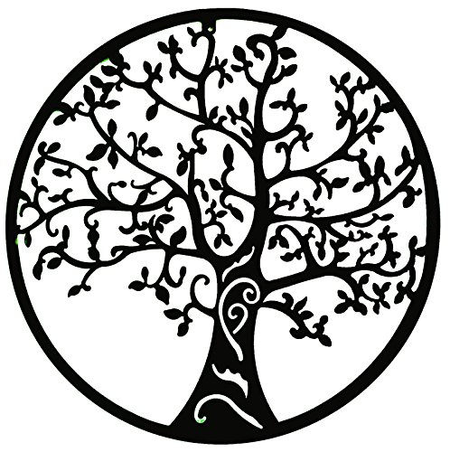 World Best Rustic Tree of Life Metal Wall Hanging Garden Art 24 Inches (Outdoor Metal Wall Hangings)