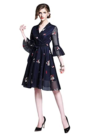 944b1bd6790da XYDQ 2018 New Style Spring and Autumn Brand Trumpet Sleeve Heavy ...