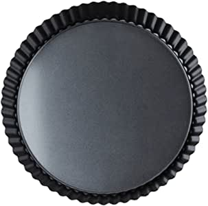 HOMYL 20cm Metal Quiche Tins Rouns Tart Pans Loose Base Non Stick Tart Pie Mold