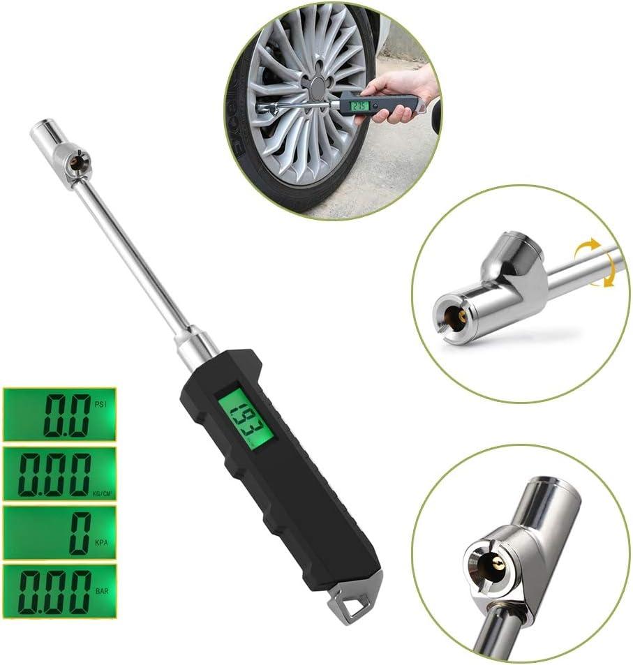 For Car Truck Tire Monitor 230 PSI LCD dual-head digital tyre pressure gauge DAXGD Digital Tyre Pressure Gauge