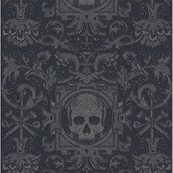 Mitchell Black Skull Box Wallpaper in Black