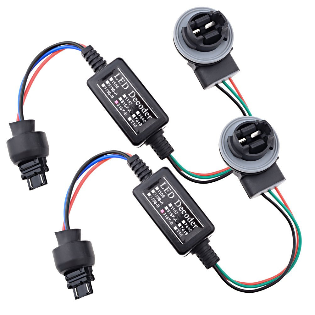 2x Led Decoder Adaptor Warning Error Canceller Turn Picture Of Choosing The Resistor To Use With Leds Signal Lamp Anti Flicker Choose Socket 3157 A B Automotive