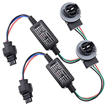 61ctROSAJ3L._SY355_ amazon com 2x led decoder adaptor warning error canceller turn Light Socket Wiring Diagram at reclaimingppi.co