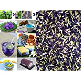 100 grams (0.1 kg.) Organic Dried butterfly pea flower Clitoria ternatea Herbs Herbal healthy tea drink recipes food coloring Antioxidants aging wrinkles