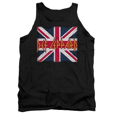 87141f689df600 Amazon.com  Def Leppard Adult Tank Top Shirt Union Jack Design  Clothing