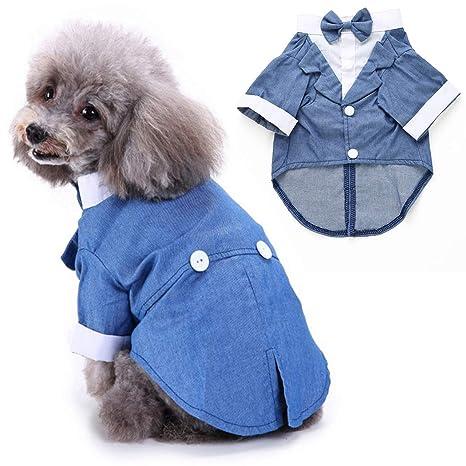 Legendog Ropa para Perros Hidalgo Tuxedo Traje Mascota Perro Boda ...