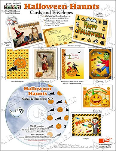 ScrapSMART - Halloween Haunts Cards & Envelopes - Software Collection - Jpeg, MS Word, and PDF files (CARDHW155)]()