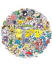 100 stuks Pokemon stickers, vinylstickers, Pikachu trendy stickers voor volwassenen, leuke stickers voor kinderen, waterdichte stickers voor waterflessen, laptop-stickers.