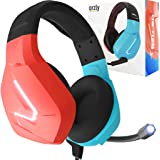 Orzly Gaming Headset with Mic Compatible with Nintendo Switch Joycon Colour Match & Added Features Gaming Consoles PC Xbox ps