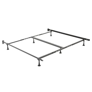 restmore adjustable k45g heavy duty bed frame with fixed headboard brackets and 6 leg - Heavy Duty Bed Frame Queen