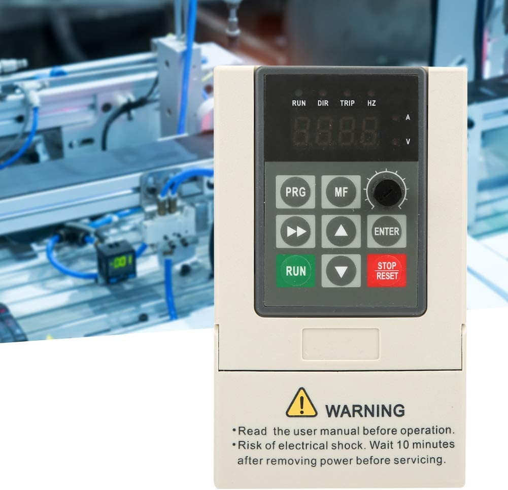 2.2KW 10A VFD Variable Frequency Converter 220V Single-Phase Input /& Output Motor Drive Inverter for Spindle Motor Speed Control