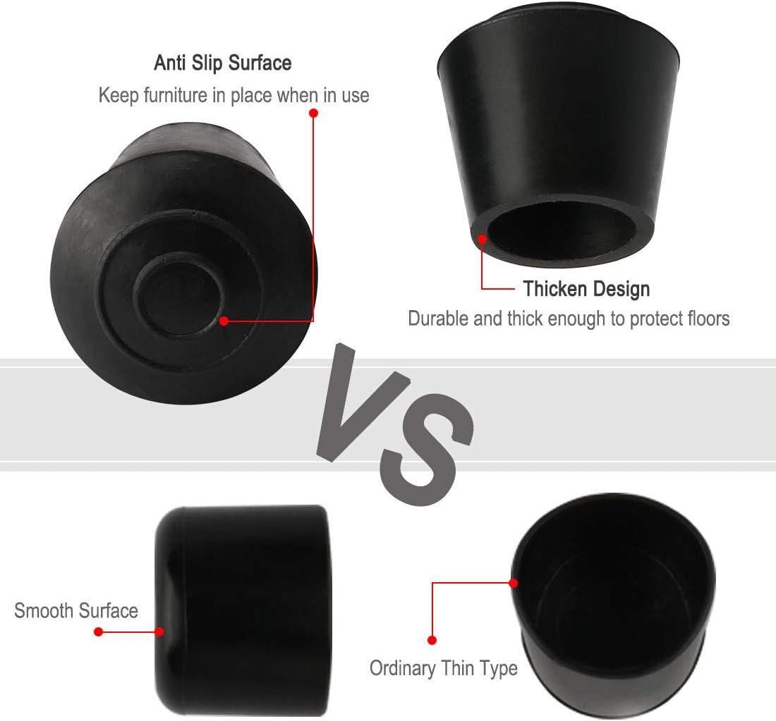 10 tapas de goma antideslizantes para patas de mesa y muebles reduce el ruido y evita ara/ñazos Sourcingmap