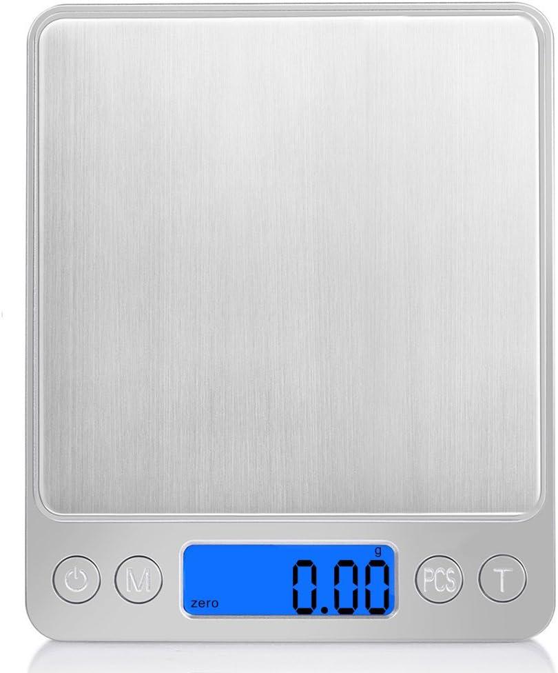 NINGSANJIN Balance de poche 500/g//0,01g Balance num/érique Balance G Balance Digital Balance dor/é porte-monnaie avec r/étro-/éclairage /écran LCD /& fonction tare