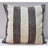 20'' X 20'' Mud Cloth Kilim Pillow Cover Handwoven African Mudcloth Rug Cushion