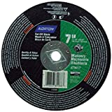 """Norton Masonry Circular Saw Reinforced Abrasive Flat Cut-off Wheel, Type 01, Silicon Carbide, DM-5/8"""" Arbor, 7"""" Diameter x 1/8"""" Thickness (Pack of 1)"""