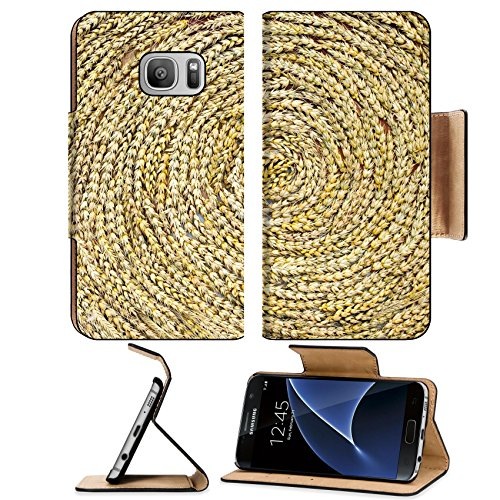 msd-premium-samsung-galaxy-s7-flip-pu-leather-wallet-case-image-36125911-a-golden-weed-weave-art-in-