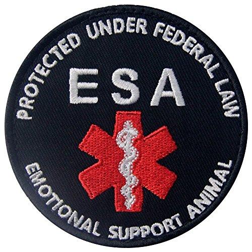 Service Dog ESA Emotional Support Medic Paramedic Star of Life EMS Vests/Harnesses Emblem Embroidered Fastener Hook & Loop Patch