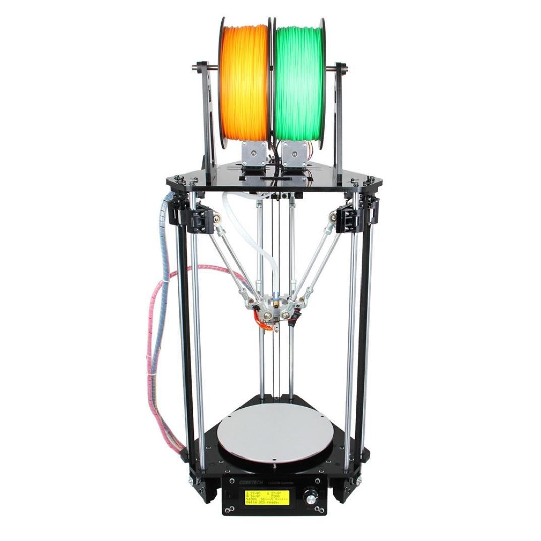 Geeetech 3D Printer,Qisc Kossel Delta Rostock G2s dual MK8 3D Printer Support Auto Level