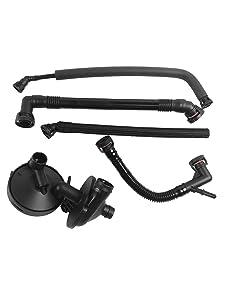 Beasteel 11157532649 PCV Valve Positive Crankcase Vent Valve Breather Hose Kit Fits BMW E46 3 Series E39 E60 325i 330i 325Xi 330Xi