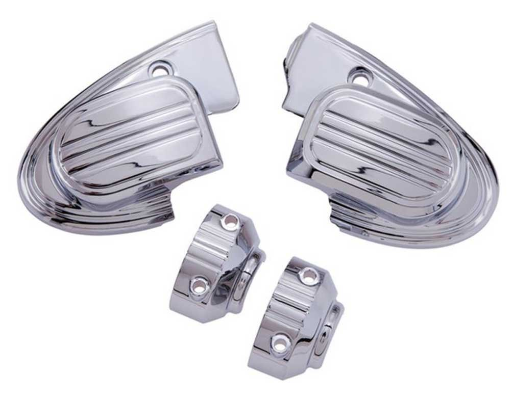 Ciro 70304 Master Cylinder Assembly Cover (Chrome For 2014-2016 Harley-Davidson Flh Touring Models With Handlebar-Mounted Mirrors)