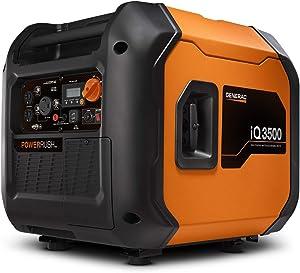 Generac 7127 iQ3500-3500 Watt Portable Inverter Generator Quieter Than Honda, Orange/Black