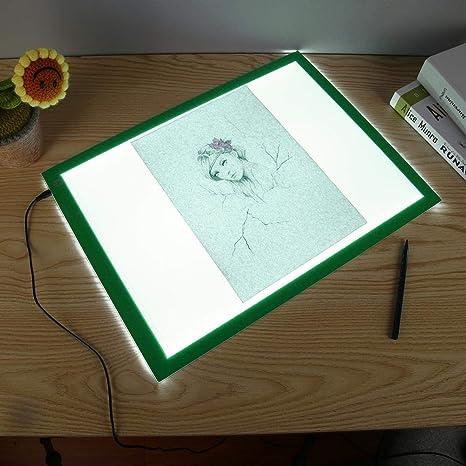 Macrorun - Tablero de copia con luz LED A3 para carteles, esténcil luminoso, arte fino, caja de luz para dibujo, almohadilla de mesa de seguimiento: Amazon.es: Juguetes y juegos
