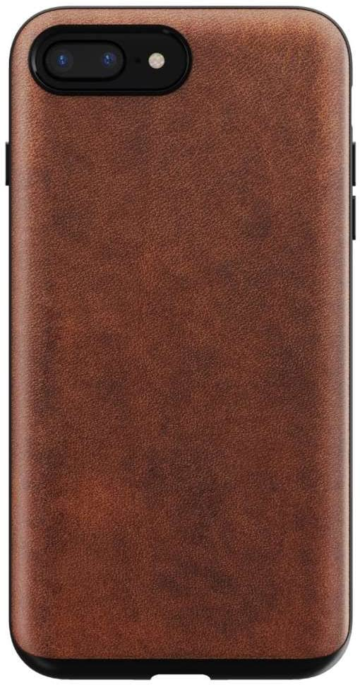 Nomad Rugged Case for iPhone 7/ 8 Plus | Rustic Brown Horween Leather