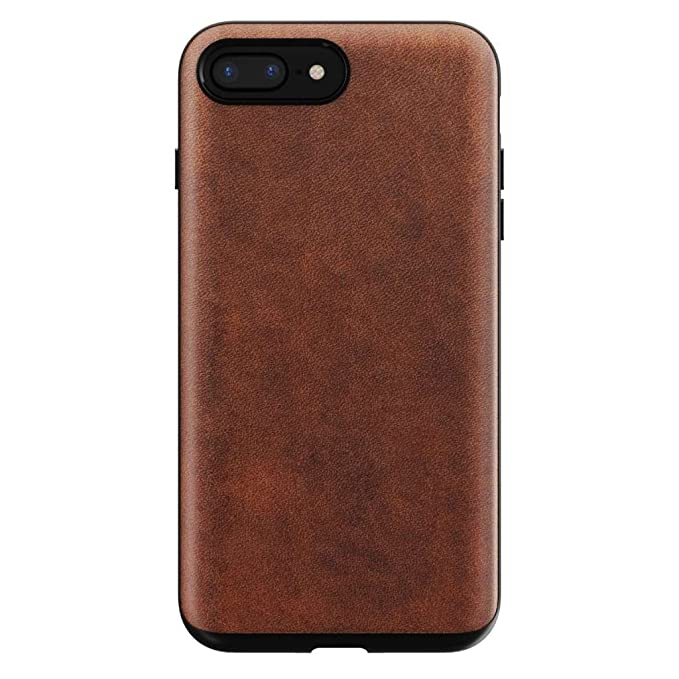 low priced a1ae8 243e2 Nomad iPhone 8/7 Plus Rugged Horween Leather Phone Case - 10ft. Drop  Protection, Raised Edges, Horween Leather - Rustic Brown