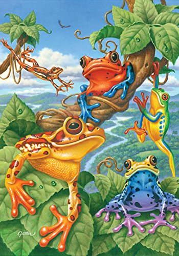 Toland Home Garden Tree Frog 12.5 x 18 Inch Decorative Colorful Exotic Jungle Frogs Garden Flag