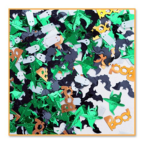 Pack of 6 Metallic Multi-Colored Ghouls & Goblins Halloween Celebration Confetti Bags 0.5 oz.