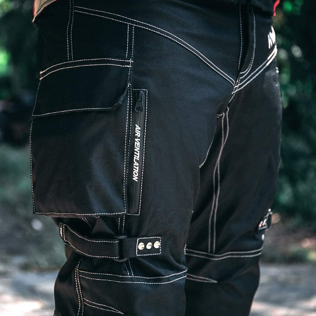 Motorcycle Pants For Men Dualsport Motocross Motorbike Pant Riding Overpants Enduro Adventure Touring Waterproof CE Armored All-Weather Waist32-34 Inseam32