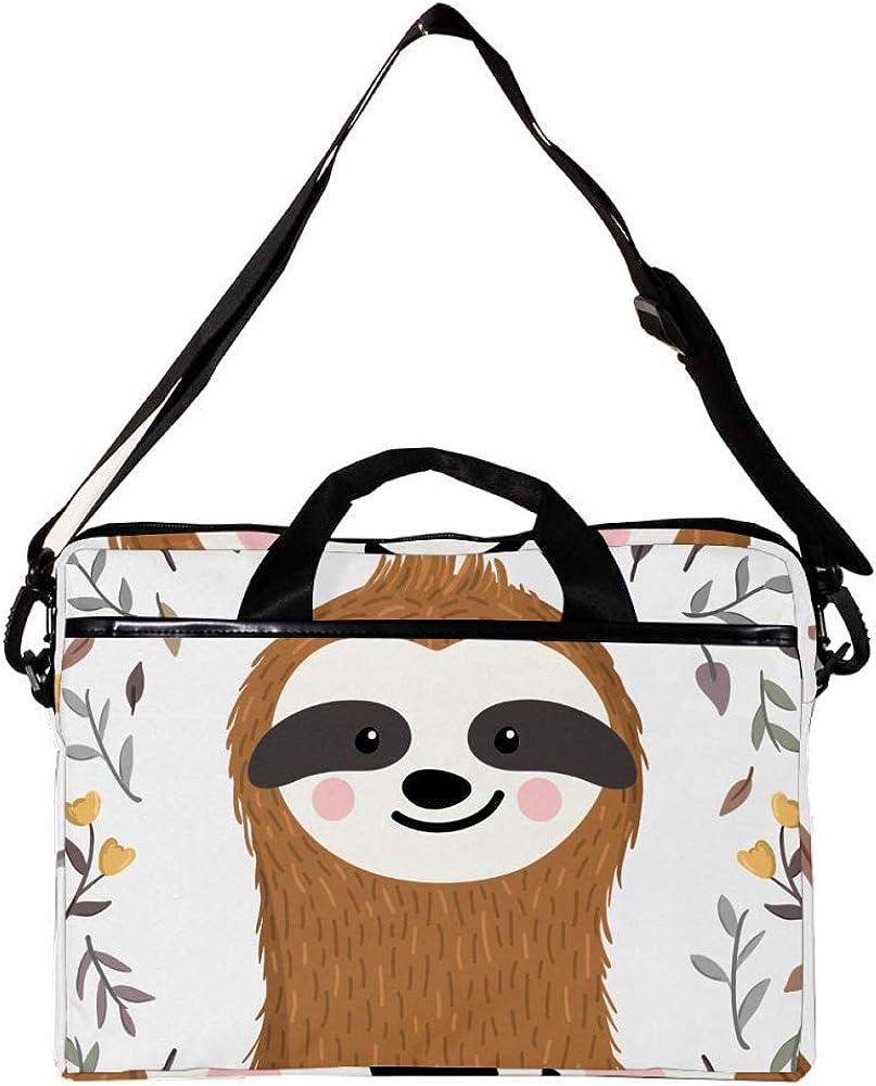 Lightweight 15 inch Laptop Bag Business Messenger Briefcases Sloth In Autumn Waterproof Computer Tablet Shoulder Bag Carrying Case Handbag for Men and Women