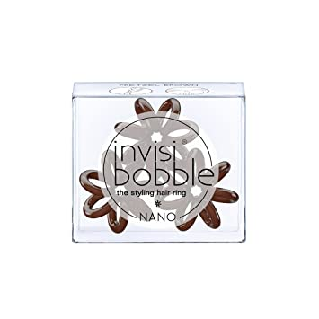 Amazon.com   invisibobble NANO Pretzel Brown - the spiral shaped styling  hair ring - perfect styling tool d2bbcb5e107