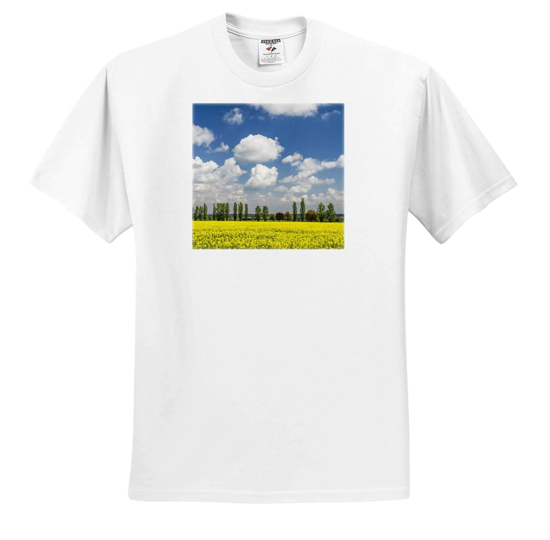 Canola Field and Tree line Czech Republic - Adult T-Shirt XL ts/_313085 Scenics 3dRose Danita Delimont