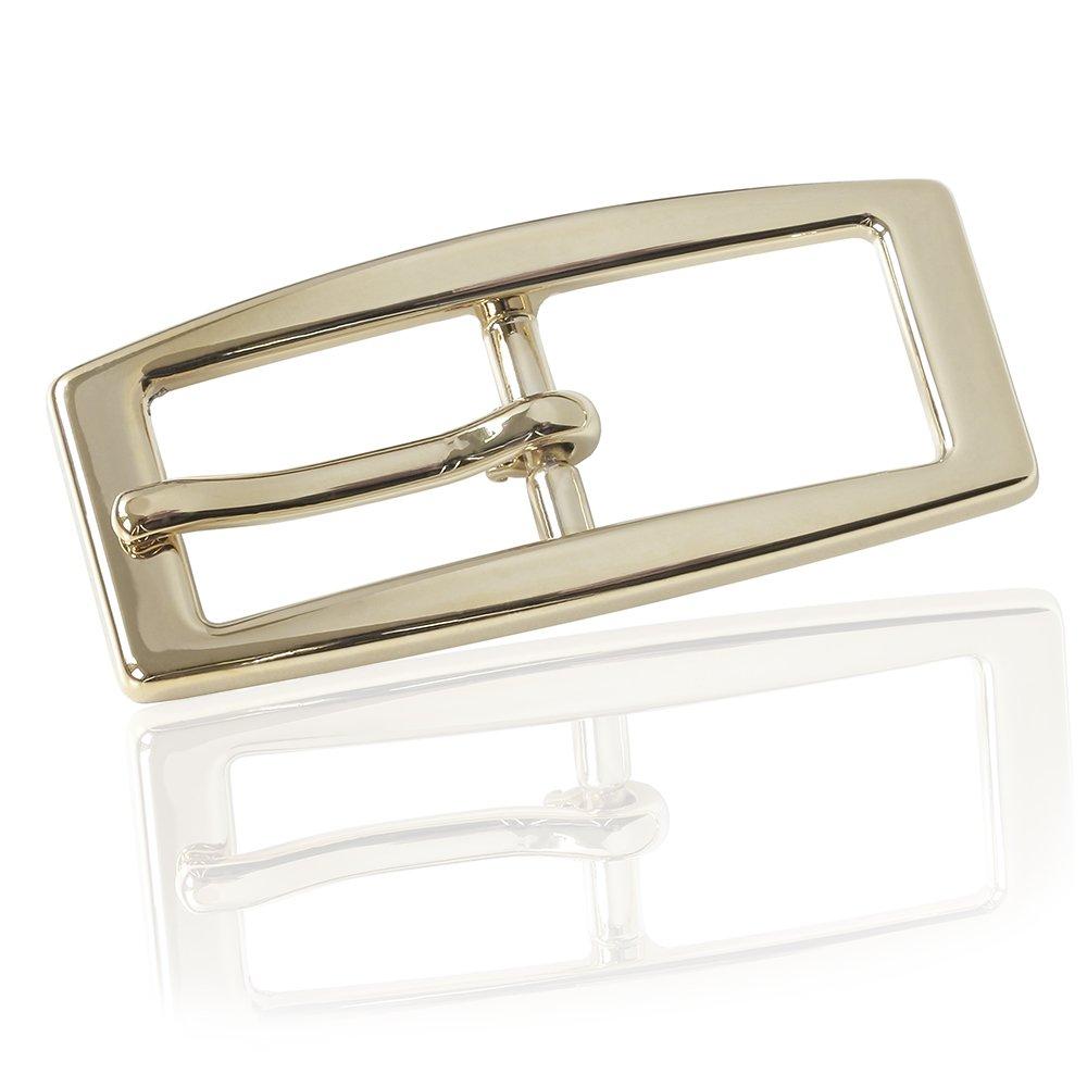 FREDERIC HERMANO G/ürtelschnalle Buckle 15mm Metall Gold Poliert Buckle Genova Goldfarben Poliert Dornschliesse F/ür G/ürtel Mit 1,5cm Breite
