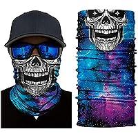 KKXXJH 3D Seamless Bandana Fantasma Esqueleto Crânio Lenços