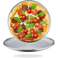 TeamFar - Juego de 2 bandejas para pizza