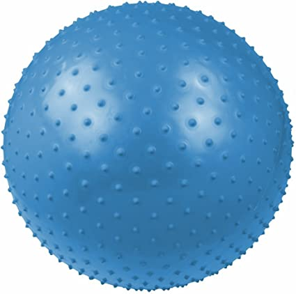 Massageball Ø 65 cm Noppen-Ball Gymnastikball Fitnessball Pumpe /& Ballschale