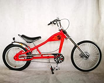 Rosetta Sport LA, Bicicleta baja tipo chopper, rojo, 20: Amazon.es ...